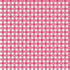 Pink Gingham and Roses