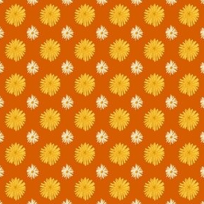Daisy and Dandelion Orange