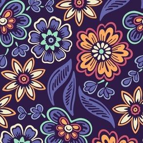 Squirrel Blue Gingam Medium Scale