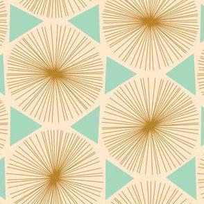 Pinwheel gold turquoise