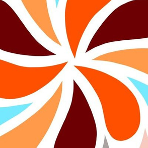 In a Spin - orange and blue