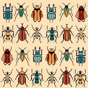 Exotic Beetles on Vanilla Yellow