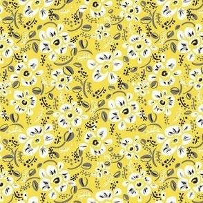 illuminating yellow modern flowers