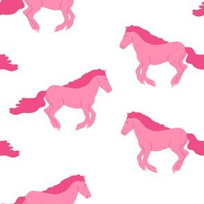 Pink Horse (white) big