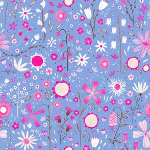 Fresh Flowers Blue