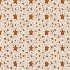 Rusty Orange Stars on Cream Speckled Ceramic