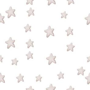 Creamy White Stars on White