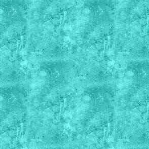 Bright Teal Green Blue Drippy Painted Canvas