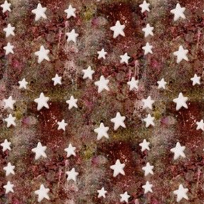 Rusty Copper Painted Starry Sky