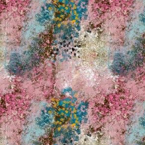 Pink Teal Gold Abstract Marbled Texture