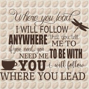 Where you lead on coffee beans