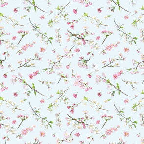 cherry blossom pattern for fabric_cherry repeat