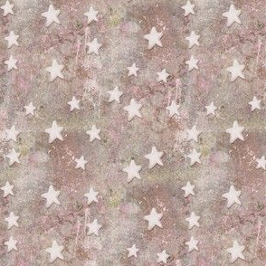 Creamy White Stars on Pink and Tan Marble Texture Abstract