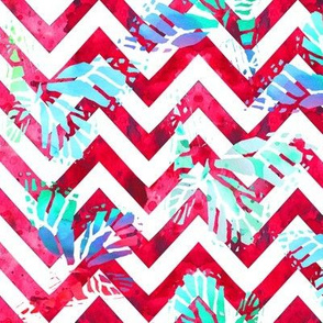 watercolor butterflies on magenta chevron