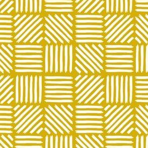 Hatch Strokes White Mustard