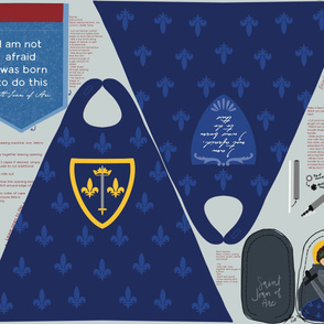 1 yard needed for Cut and Sew St Joan of Arc Cape, Banner, Saint Doll Cut and Sew