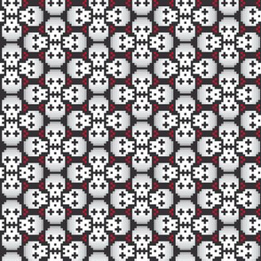 Pixelated skulls