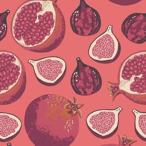Pomegranates and Figs color way 2