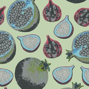 Pomegranates and Figs color way 4