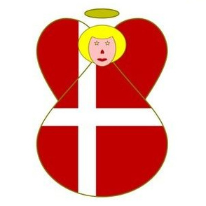 Danish Flag Angel