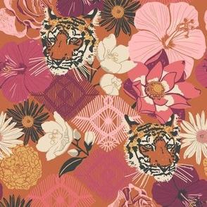 Journey To Jaipur Tiger Floral color way 1