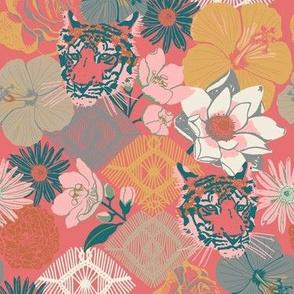 Journey To Jaipur Tiger Floral color way 3