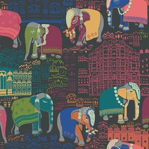 Journey To Jaipur Elephant Parade color way 1