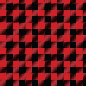 Black and Red Check - Medium (Fall Rainbow Collection)