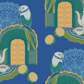 Journey To Jaipur Bird and Teapot color way 1