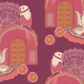 Journey To Jaipur Bird and Teapot color way 2