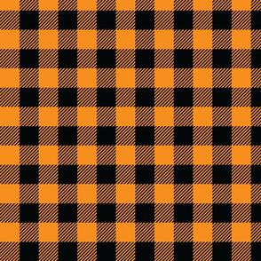 Black and Orange Check - Medium (Fall Rainbow Collection)