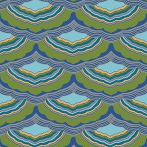 Journey To Jaipur Scalloped Stripes color way 1