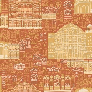 Journey To Jaipur Buildings color way 3