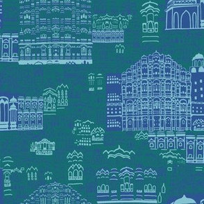 Journey To Jaipur Buildings color way 5