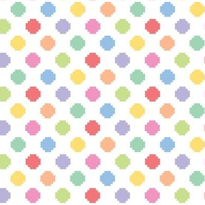 Pixelated multicolored dots