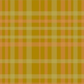 Cream and pink plaid on retro brown