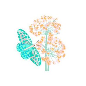 Butterfly Floral  for Embroidery