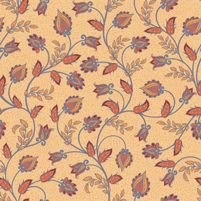 Oriental ornament on beige