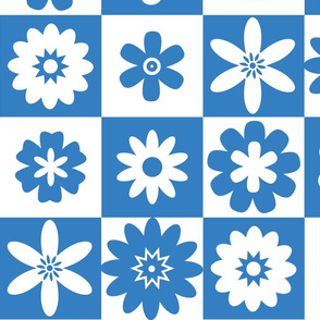 Blue and White Country Floral