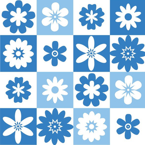 Shades of Blue and White Summer Floral