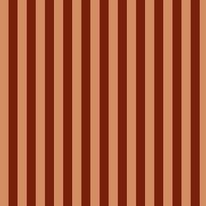 """Brown 1/4""""  Stripes"""