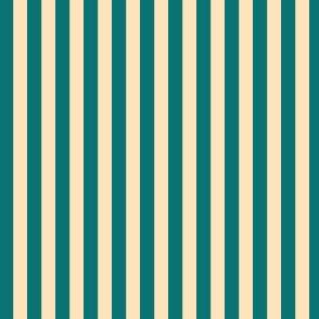 Teal blue and cream stripes SPSQFall21