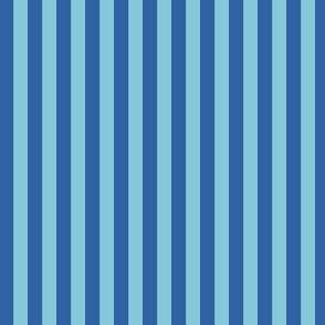 Midnight Tropical Blue on Blue