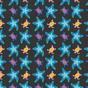 Starfish and Loggerhead Turtles
