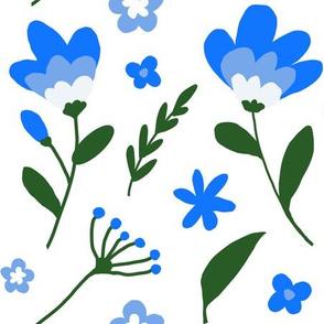 Blue Field Flowers