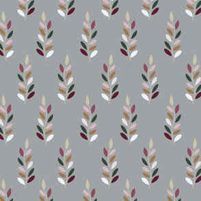 multicolor leaves grey background-01