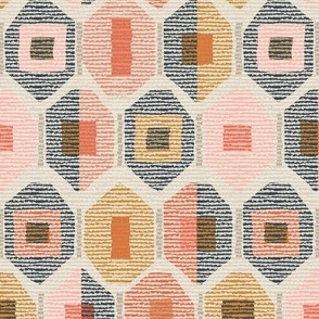 western weave sunset coral medium scale