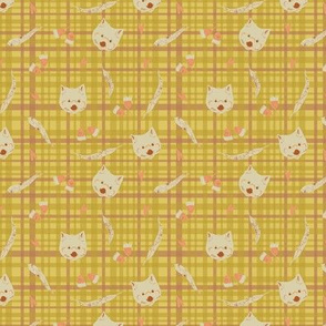 Wombat on plaid (small scale)