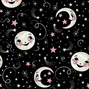 Luna Loves Stars Above on Black Large