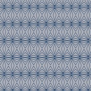 Geometric - Medium Grey and Blue